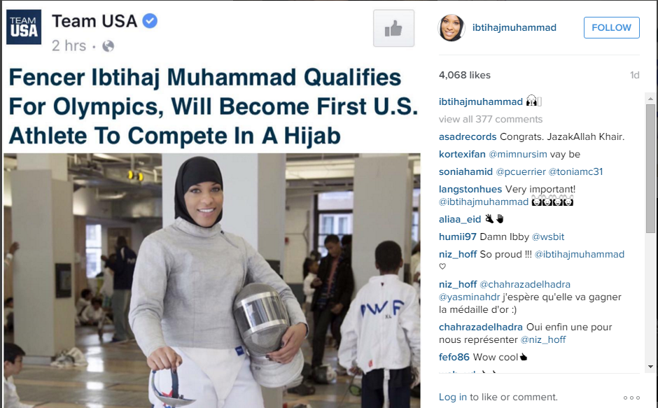 First Hijab Wearing Athelete in Olympics from US - Islam Hashtag